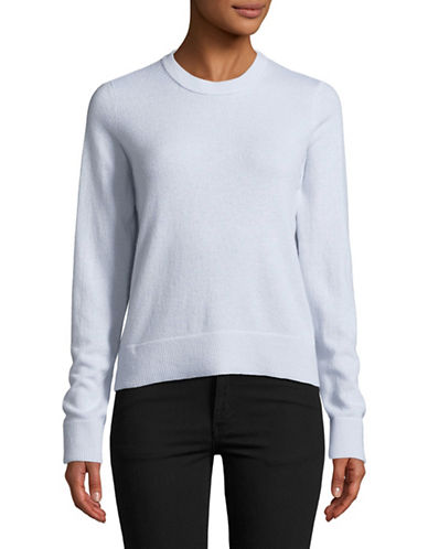 Vince Overlay Cashmere Sweater-WHITE-Large
