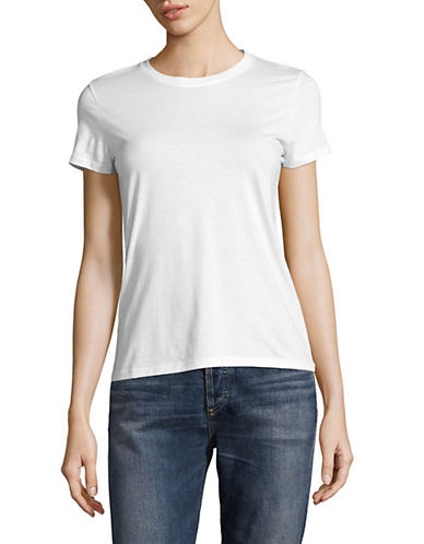 Vince Essential Crew Neck Cotton Tee-WHITE-X-Small 89984481_WHITE_X-Small