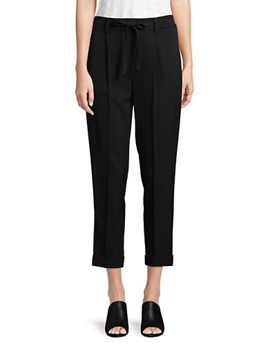 Vince Pleated Front Pants-BLACK-Small 89984377_BLACK_Small