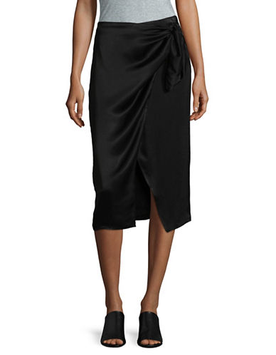 Lpa Long Wrap Skirt-BLACK-Large
