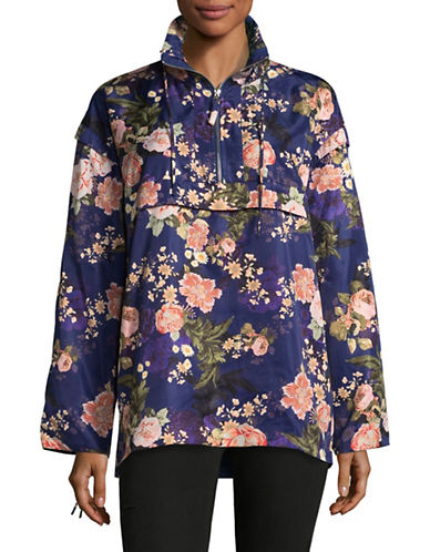Lpa Floral Hooded Jacket-BLUE-Small 89507979_BLUE_Small