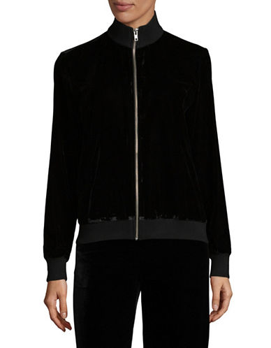 Lpa Velvet Zip Jacket-BLACK-Medium