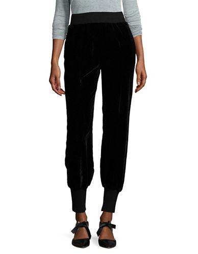 Lpa Velvet Track Pants-BLACK-X-Small