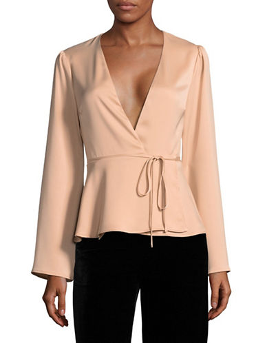 LAcademie Eliot Wrap Blouse-PINK-X-Small