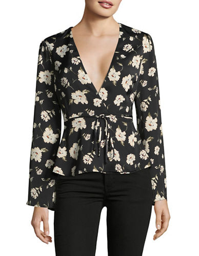 LAcademie Eliot Wrap Blouse-ROMANTIC FLORAL-Small