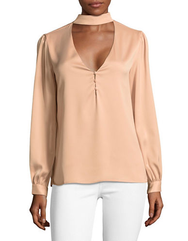 LAcademie The Harper Choker Blouse-PINK-X-Small