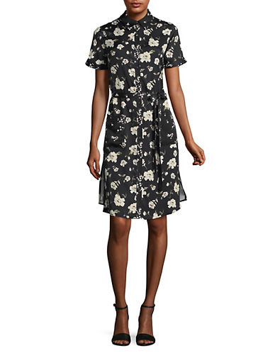 LAcademie Floral Buttoned Shirt Dress-ROMANTIC FLORAL-Medium