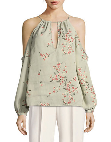 LAcademie Keyhole Cold-Shoulder Top-GREEN-X-Small