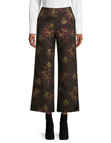 Lpa Brocade Wide-Leg Pants-RED-Medium