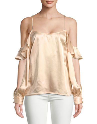 LAcademie Cold-Shoulder Blouse-CHAMPAGNE-Small
