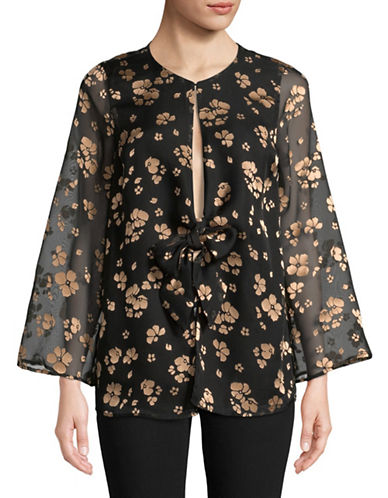 LAcademie Floral-Print Blouse-BLACK-Medium