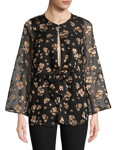LAcademie Floral-Print Blouse-BLACK-Large