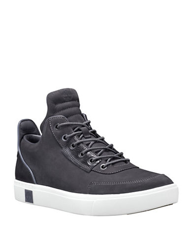 Timberland Lace-Up Leather Chukka Sneakers-GREY-10.5