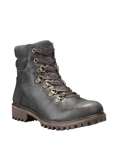 Timberland Wheelwright Leather Boots-DARK GREY-9