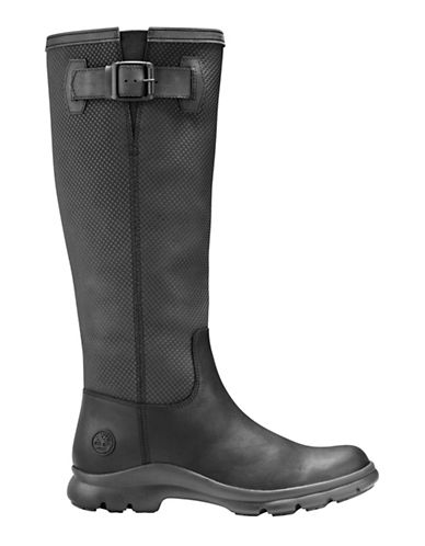 Timberland Turain Leather Knee-High Boots-BLACK-8.5