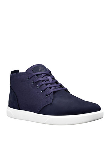 Timberland Lace-Up Leather Chukka Sneakers-DARK BLUE-9