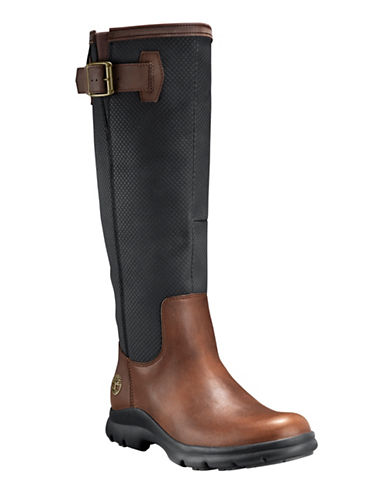 Timberland Turain Leather Knee-High Boots-BROWN-9