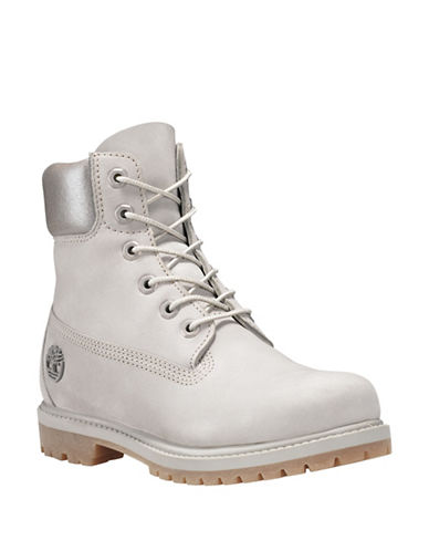 Timberland Icon 6-Inch Premium Waterproof Leather Boots-GREY-5.5