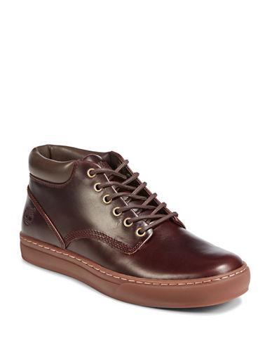 Timberland Leather Chukka Shoes-BROWN-7.5