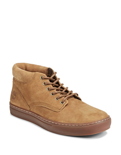 Timberland Suede Chukka Shoes-BROWN-12