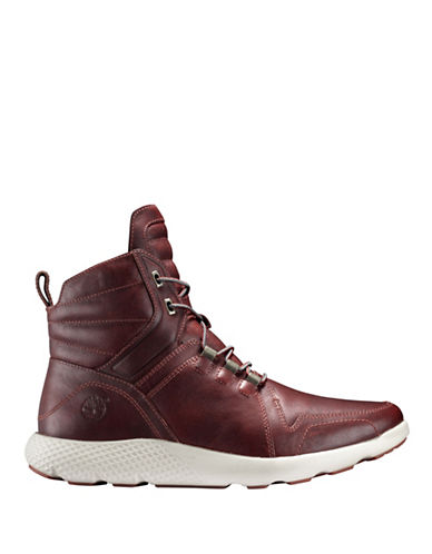 Timberland Fly Roam Leather Sneaker Boots-BROWN-13