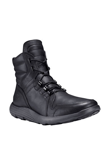 Timberland Fly Roam Leather Sneaker Boots-BLACK-11