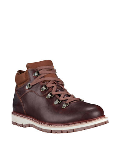 Timberland Leather Hiking Boots-BROWN-11