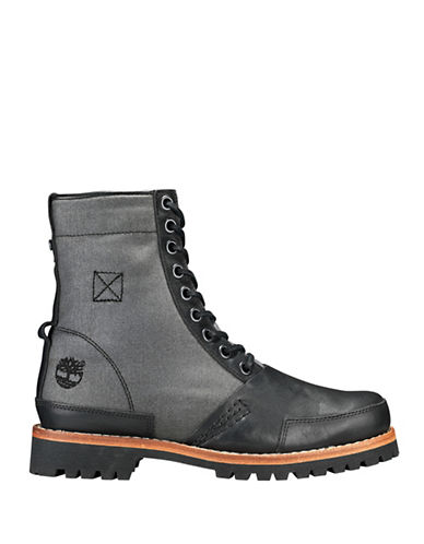 Timberland Leather Cold Weather Boots-BLACK-9