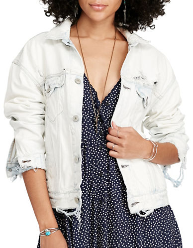 Denim & Supply Ralph Lauren Denim Trucker Boyfriend Jacket-BLUE-X-Large 89018133_BLUE_X-Large