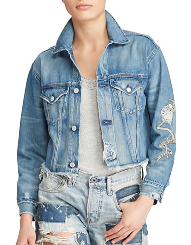 Denim & Supply Ralph Lauren Denim Boyfriend Jacket-BLUE-X-Small 89018139_BLUE_X-Small