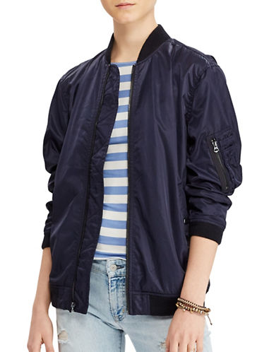 Denim & Supply Ralph Lauren Twill Bomber Jacket-BLUE-Medium 89018195_BLUE_Medium