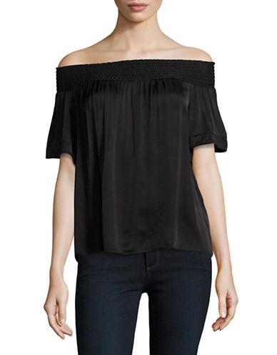 Denim & Supply Ralph Lauren Off-Shoulder Short Sleeve Top-BLACK-Medium 89018238_BLACK_Medium