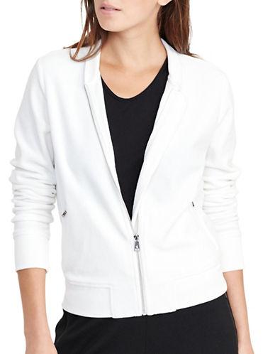 Lauren Ralph Lauren Velour Track Jacket-WHITE-Large 88830863_WHITE_Large
