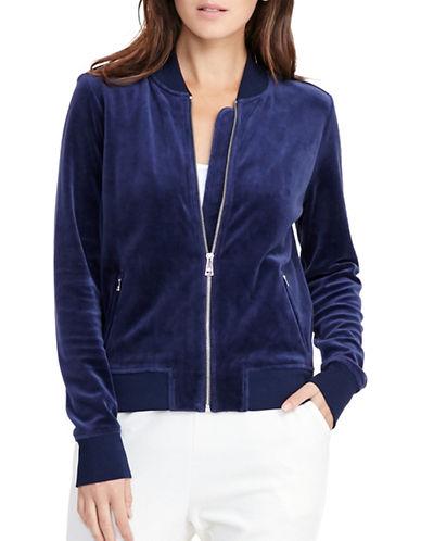 Lauren Ralph Lauren Velour Track Jacket-BLUE-Medium 88830868_BLUE_Medium