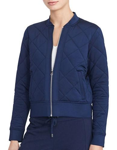 Lauren Ralph Lauren Quilted Jersey Bomber Jacket-BLUE-X-Small 88874511_BLUE_X-Small