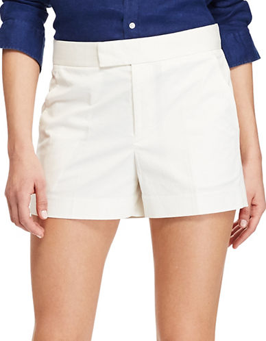 Polo Ralph Lauren Stretch Cotton Twill Shorts-DECKWASH WHITE-10