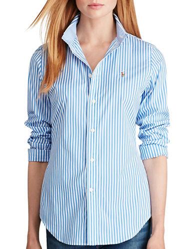 Polo Ralph Lauren Striped Poplin Dress Shirt-BLUE-12