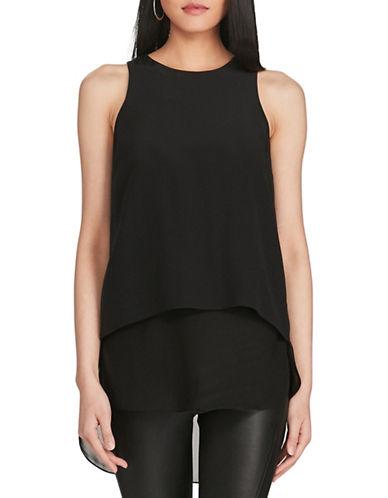 Polo Ralph Lauren Straight-Fit Silk Georgette Top-BLACK-Medium 89101705_BLACK_Medium