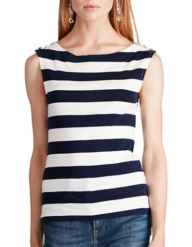 Polo Ralph Lauren Striped Sleeveless Cotton Top-NAVY-Small 89046833_NAVY_Small