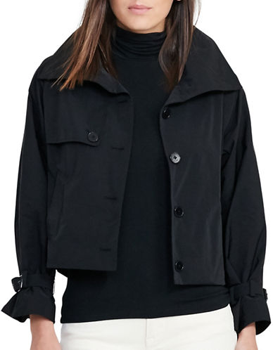 Lauren Ralph Lauren Taffeta Funnel Neck Jacket-BLACK-4 88933282_BLACK_4