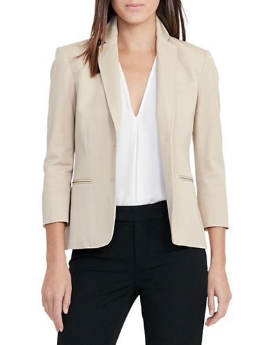 Lauren Ralph Lauren Stretch Cotton Twill Jacket-BEIGE-10 89063335_BEIGE_10