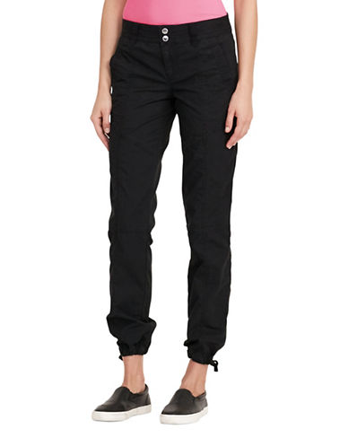 Lauren Ralph Lauren Faldrina Twill Pants-BLACK-8 89133915_BLACK_8
