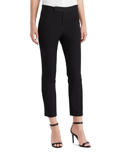Lauren Ralph Lauren Stretch Twill Straight Pants-BLACK-4 89063464_BLACK_4