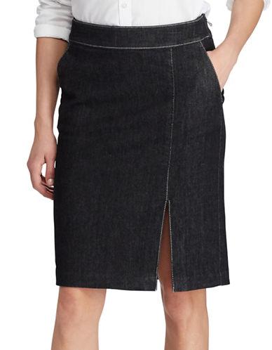 Lauren Ralph Lauren Denim Pencil Skirt-GREY-6 88933571_GREY_6