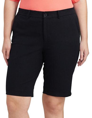 Lauren Ralph Lauren Plus Stretch Cotton Shorts-BLACK-16W 89103255_BLACK_16W