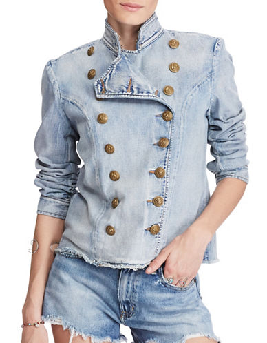 Denim & Supply Ralph Lauren Denim Double-Breasted Jacket-BLUE-X-Small 89120656_BLUE_X-Small
