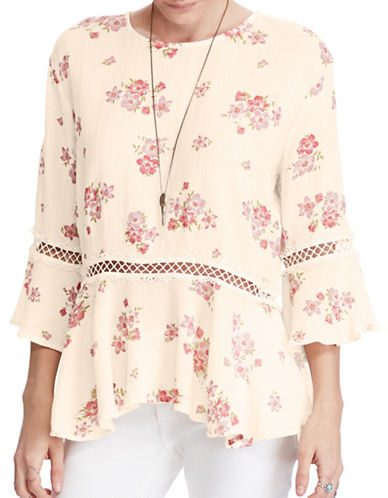 Denim & Supply Ralph Lauren Floral Bell-Sleeve Top-JOSEPHINE FLORAL-Small