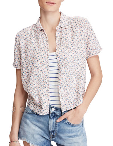 Denim & Supply Ralph Lauren Cropped Floral Shirt-MULTI-X-Small