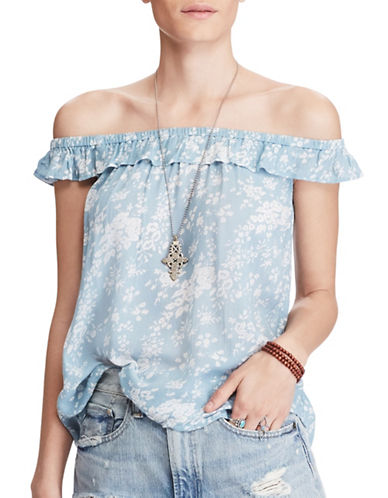 Denim & Supply Ralph Lauren Floral Off-the-Shoulder Top-LUCY FLORAL-X-Large