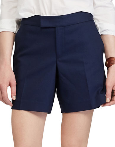 Chaps Stretch Cotton Shorts-BLUE-16